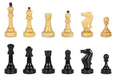 Black and white chess isolated Stock Images