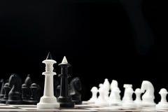 Black and white chess king Royalty Free Stock Photos