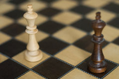 Black and white chess kings Royalty Free Stock Images