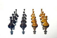 Black and white chess pawns Royalty Free Stock Photo