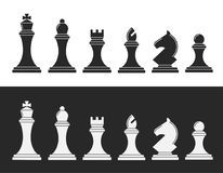 Black and white chess Stock Images