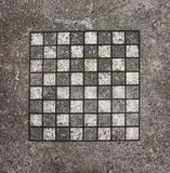 Black and white chessboard Royalty Free Stock Images