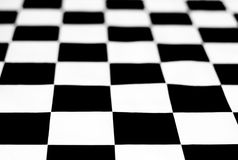 Black and white chessboard. Depth of field Stock Images