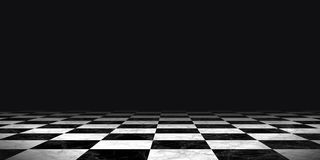 Black and white chessboard background Stock Photography