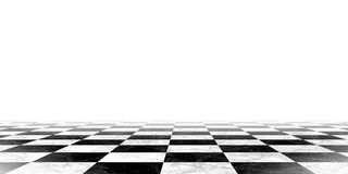 Black and white chessboard background Stock Image