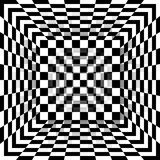 Black and white chessboard pattern box. Vector abstract background. Stock Photography