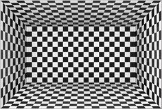 Black and white chessboard walls room background Stock Photos