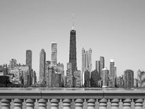 Black and white Chicago Royalty Free Stock Images