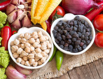 Black and white chickpea Stock Image