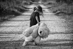 Black-and-white, Child, Cute Royalty Free Stock Images