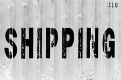 Black and white China delivery container textured background Stock Photography