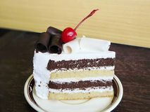 Black and white chocolate cake Royalty Free Stock Images
