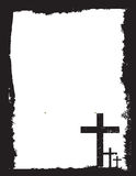 Black and white christian crucifix background Royalty Free Stock Images
