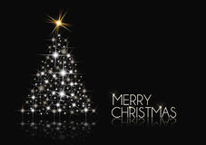 Black and White Christmas. Tree background Stock Photography