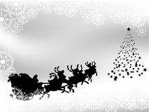 Black and white Christmas background Royalty Free Stock Image
