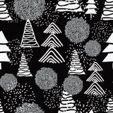 Black and White Christmas royalty free illustration