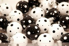 Black and white christmas ornament Stock Photography