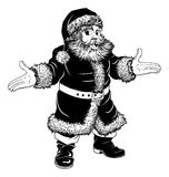 Black and white Christmas Santa Claus Stock Photography