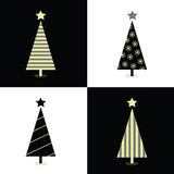 Black and white christmas trees Royalty Free Stock Photos