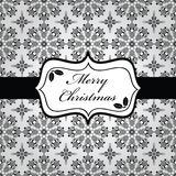 Black and white christmas wrapping Stock Image
