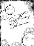 Black-white Christmass design Royalty Free Stock Images