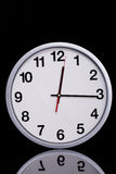 Black and white chrome clock Royalty Free Stock Images