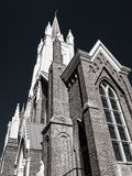 Black and white church details Royalty Free Stock Images
