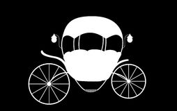 Black and White Cinderella Fairytale carriage. Vector Illustrati Royalty Free Stock Images