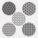 Black and white circle style pattern Stock Images