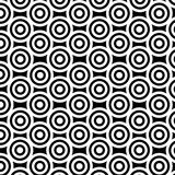 Black-white circles. White circles on black background texture Stock Photography