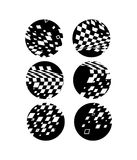 Black and white circles Stock Photos