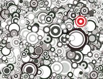 Black and white circles Stock Image