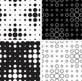 Black and white circles. Seamless texture of black and white circles stock illustration