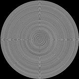 Black and white circles background. Radio waves kind Vector Illustration