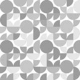 Black and white circles parts chaotic geometric seamless pattern, vector. Background vector illustration