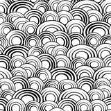 Black and white circles seamless pattern, vector background.Monochrome abstract creative stylish simple backdrop for. Sites,cards or textiles.Fish scales or Royalty Free Stock Image