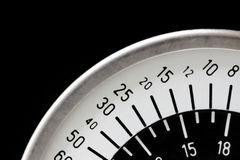 Black and white circular scale Stock Photography