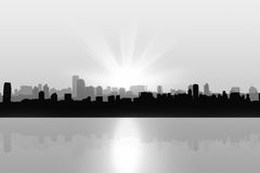 Black and White City Background Royalty Free Stock Photos