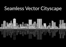Black and White City, Seamless Royalty Free Stock Photography