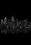 Black white city Royalty Free Stock Image
