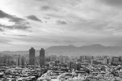 Black and white cityscape Stock Photos