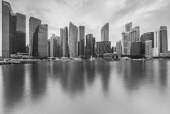 Black and white of Cityscape Stock Photo
