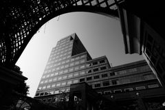Black and white cityscape Royalty Free Stock Image