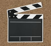 Black and white clapper board icon Royalty Free Stock Photo