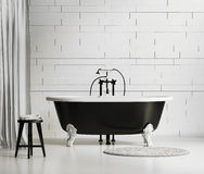 Black and white classic bathtub