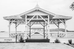 Black and white of Classic bridge. In Thailand Stock Images