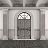 Black and white classic home entrance Royalty Free Stock Image