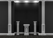 Black and white classic interior Stock Photography