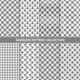 Black White Classic Line Zigzag Vector Abstract Geometric Seamless Pattern Design Collection. Web Royalty Free Stock Photography