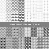 Black White Classic Line Zigzag Vector Abstract Geometric Seamless Pattern Design Collection Royalty Free Stock Image